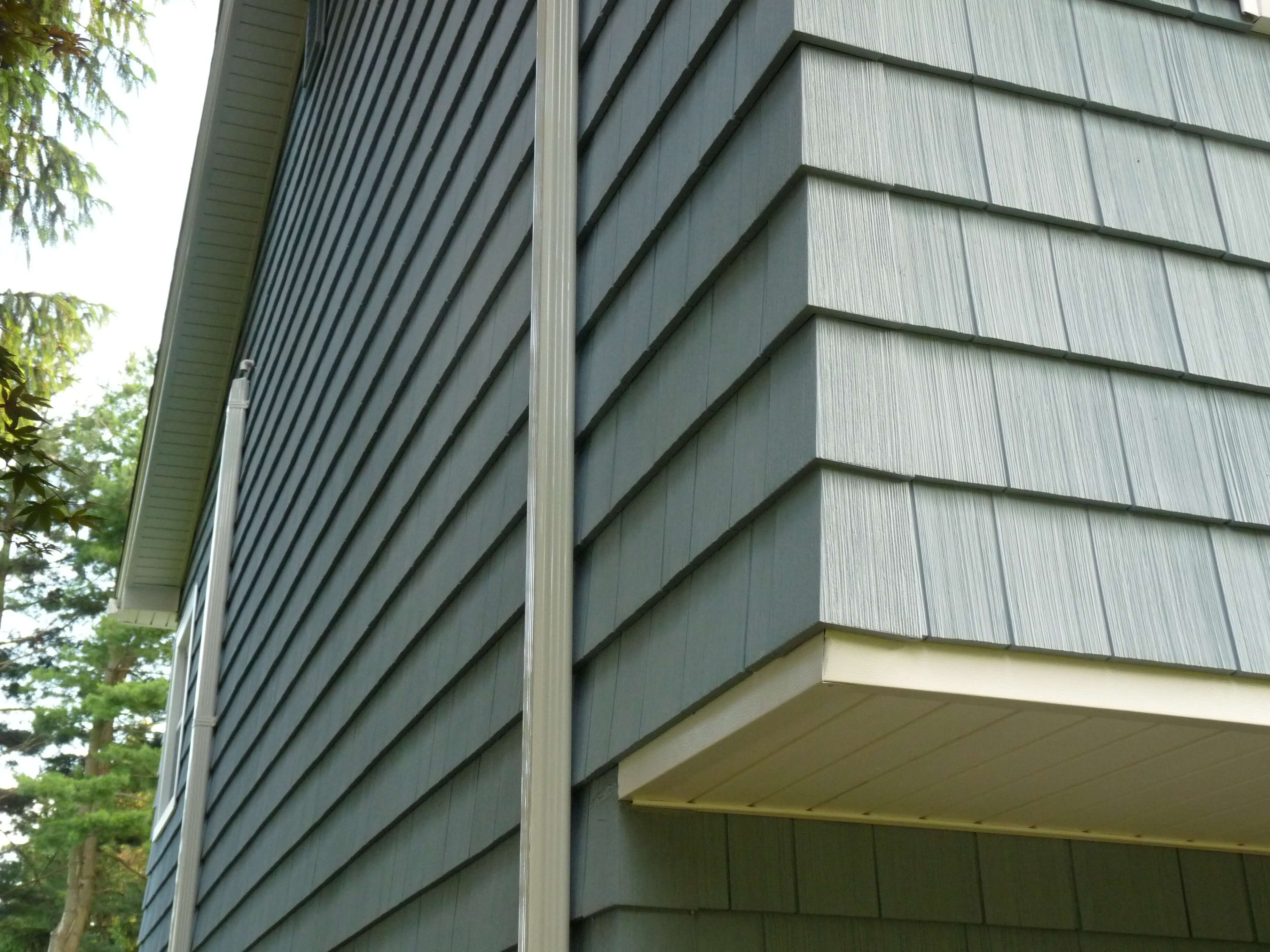 Morris county nj alside siding project with shake corners for Lp shake siding