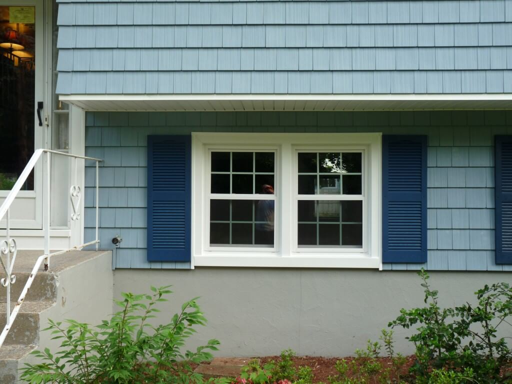 Alside Ocean Blue Shutters
