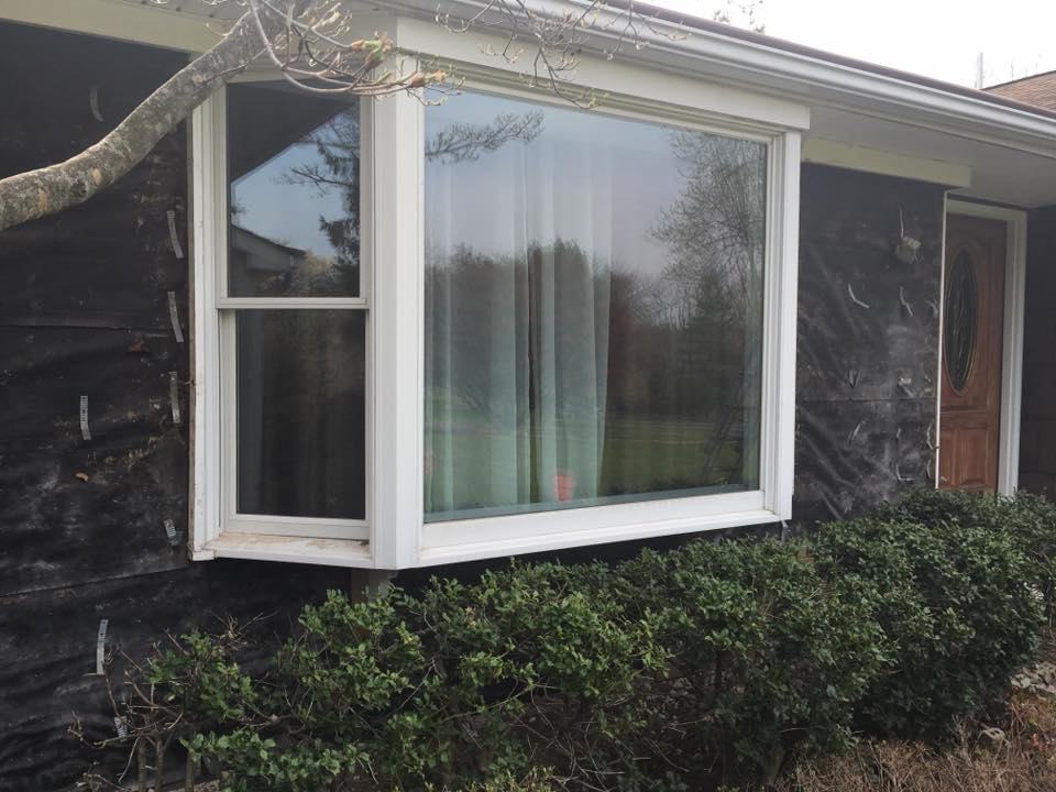 New front door replacement bay window in readington nj for New replacement windows